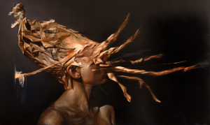 Collapse III - 60 x 100 cm Oil on aluminum 2015
